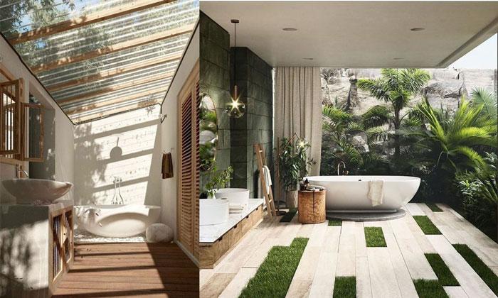 Mẫu phòng tắm ngoài trời cho thiết kế resort v2
