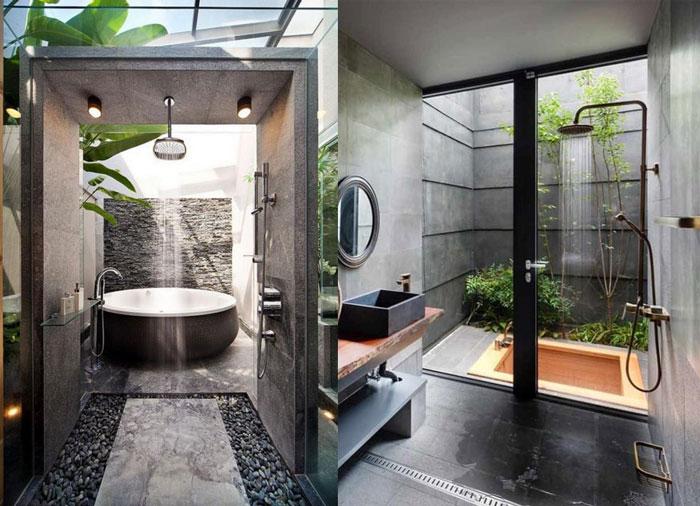 Mẫu phòng tắm ngoài trời cho thiết kế resort v6